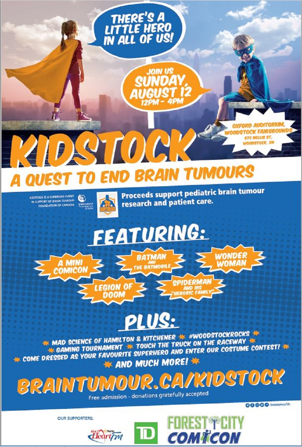 KIDSTOCK – A Quest to End Brain Tumours!! | Your Oxford